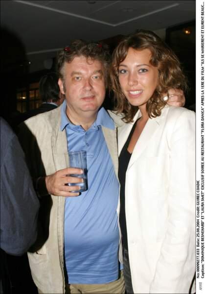 Avec Dominique Besnehard, son parrain.