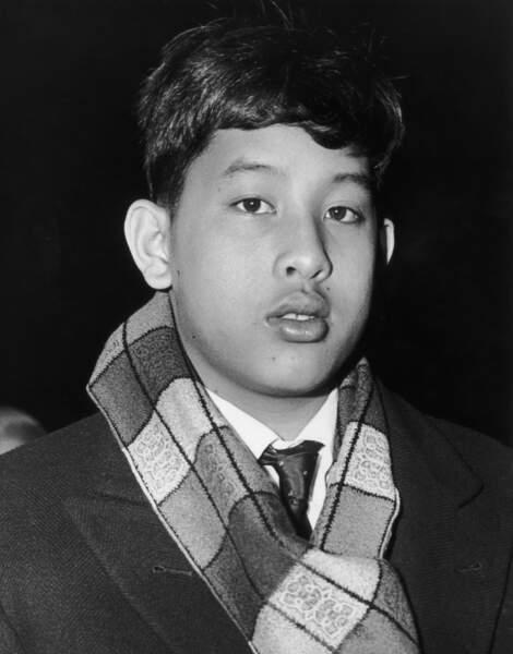 Le jeune prince Vajiralongkorn en 1966