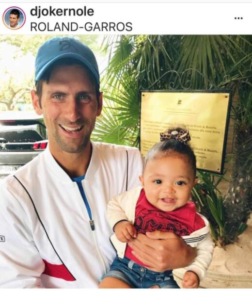 Novak Djokovic et Olympia la fille de Serena Williams