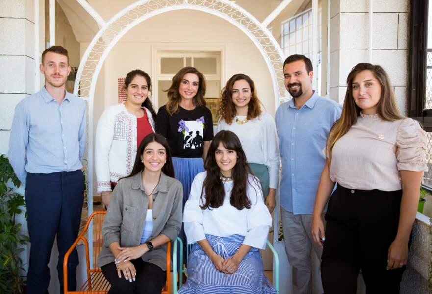 Rania de Jordanie présentait un make-up glamour très maîtrisé