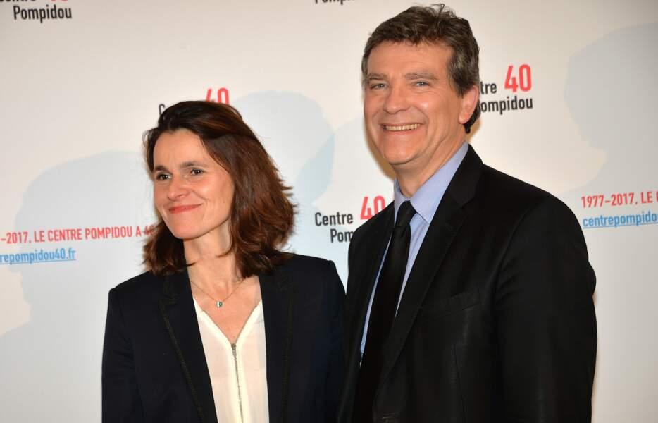 Aurelie Filippetti et son compagnon Arnaud Montebourg à un cocktail