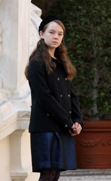 La princesse Alexandra de Hanovre lors de la fête nationale monégasque le 19 novembre 2011