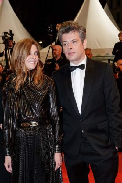 "Chiara Mastroianni et Benjamin Biolay assistent au film ""Diego Maradona"", à Cannes, le 19 mai 2019."