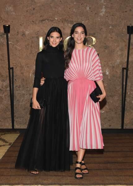 Les comtesses Viola et Vera Arrivabene en looks contrastés pour le défilé Croisière 2020 Dior à Marrakech