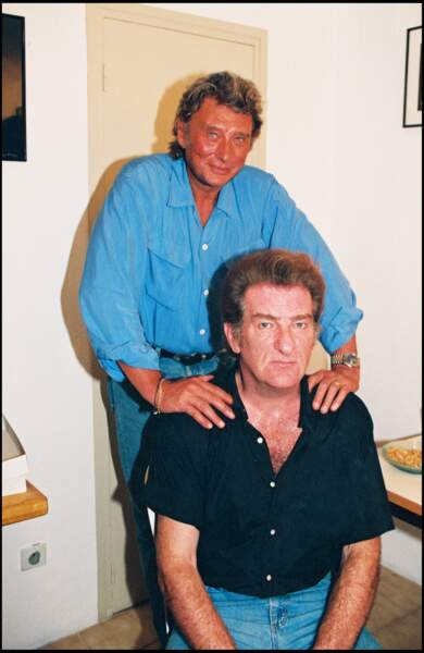 Eddy Mitchell et Johnny Hallyday à Ramatuelle en 1994