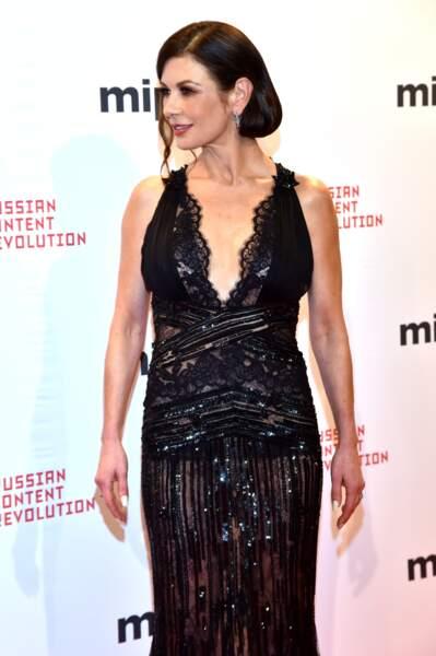 Le chignon bas élégant de Catherine Zeta Jones