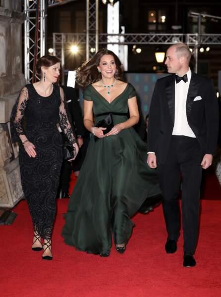 Kate Middleton entourée d'Amanda Berry et so mari le prince William