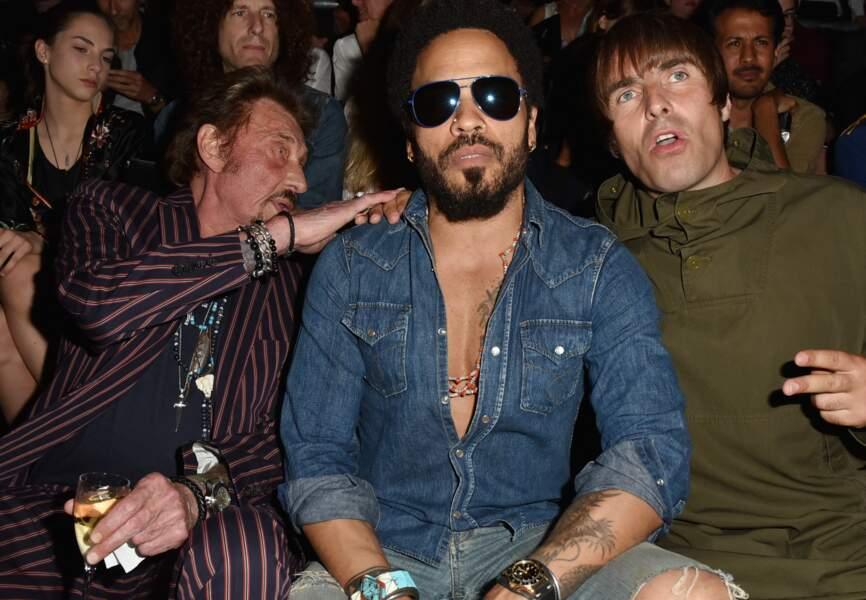 Johnny Hallyday, Lenny Kravitz, Liam Gallagher