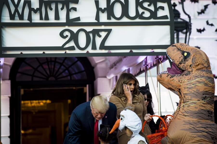 Les déguisements étaient terrifiants pour Melania Trump