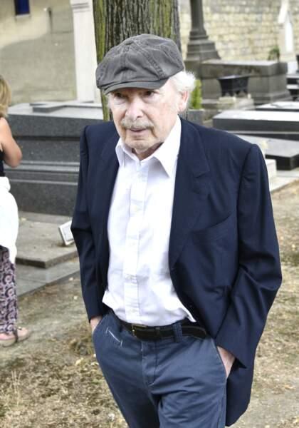 Popeck lors des obsèques de Claude Lanzmann au cimetière de Montparnasse le 12 juillet