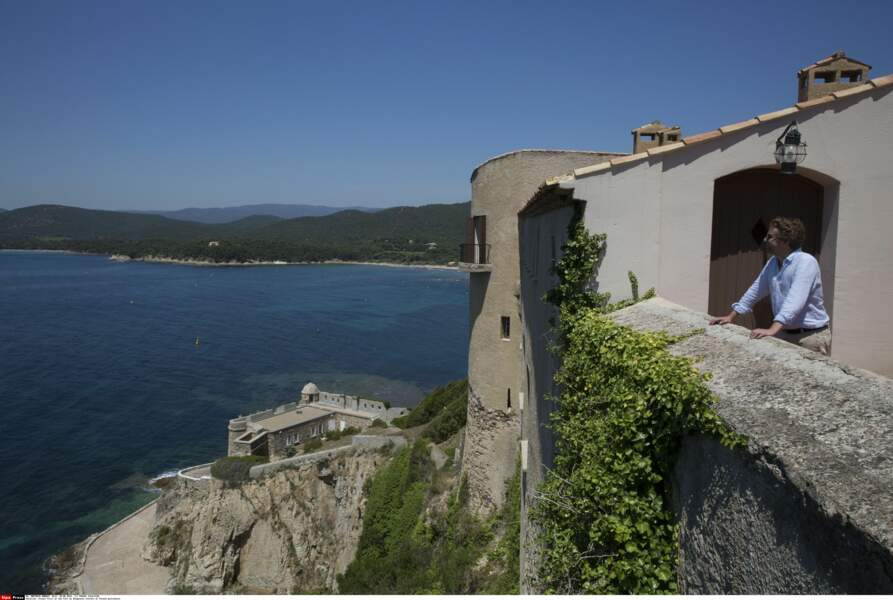 Vue depuis le fort de Brégançon, où Emmanuel et Brigitte Macron passent leurs vacances