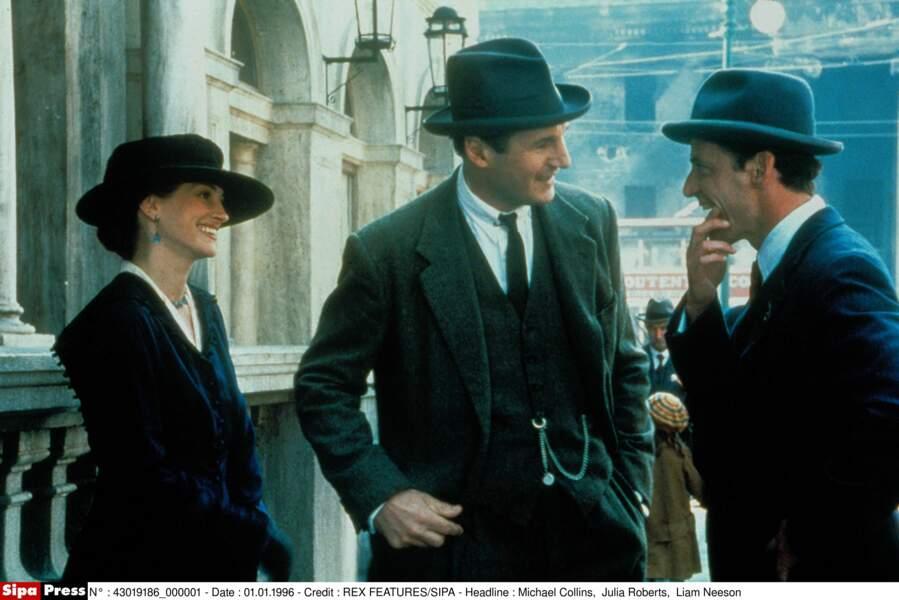 """Elle retrouve Liam Neeson, l'un de ses premiers compagnons, dans le film """"Michael Collins"""" en 1996"""
