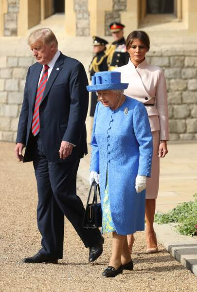 Mélania Trump au Château de Windsor le 13 juillet 2018