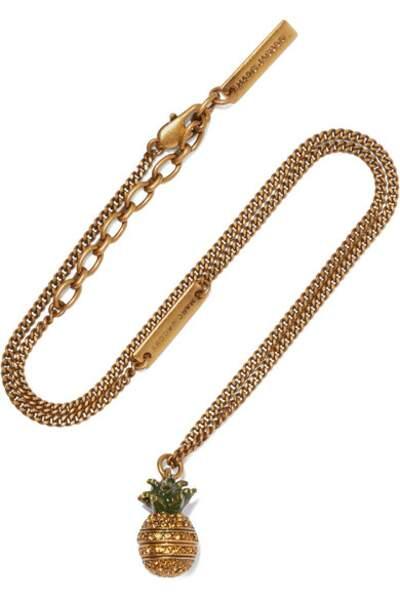 Collier en plaqué or et cristaux Pineapple, Marc Jacobs, 85€