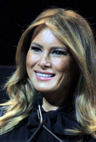 La première dame des Etats-Unis, Melania Trump fait un speech sur la crise des opioïdes à Las Vegas, le 5 mars 2019