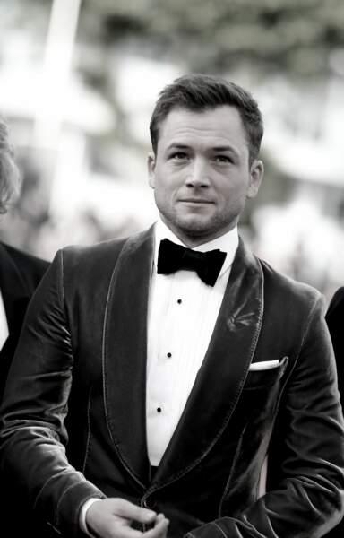 """Taron Egerton (en Tom Ford), lors de la première de """"Rocketman"""" à Cannes, le 16 mai 2019"""