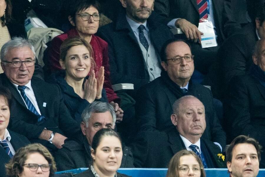 François Hollande et sa compagne Julie Gayet, ravis par l'issue du match