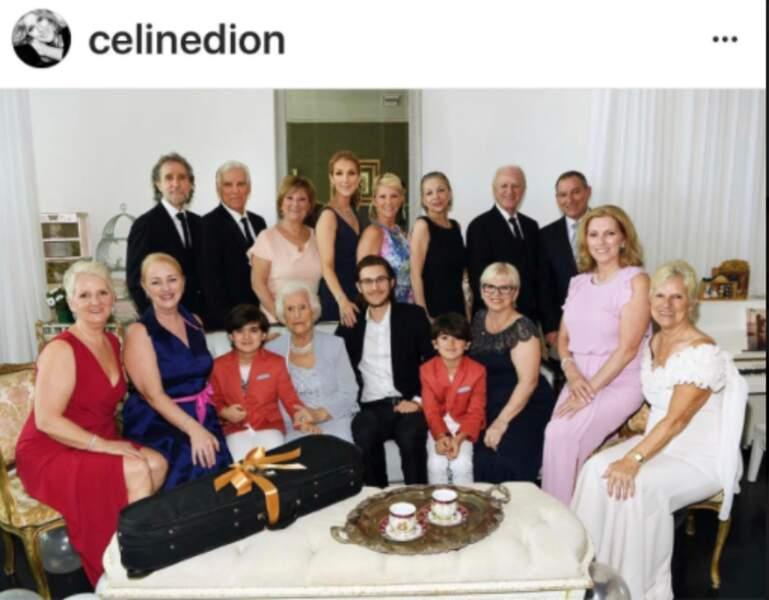 Céline Dion et toute la famille célèbre les 90 ans de Thérère Dion