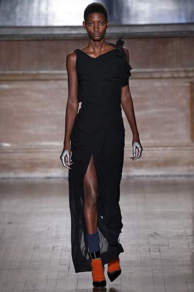 Robe longue en velours pour Vivienne Westwood