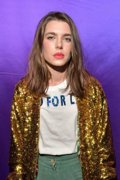 Charlotte Casiraghi au défilé Gucci, Fashion Week de Milan
