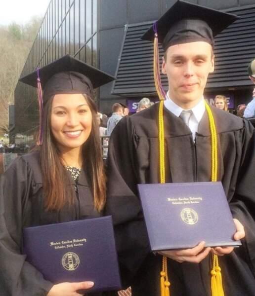 Louis Ducruet et Marie Chevallier diplômés le même jour le 19 décembre 2016