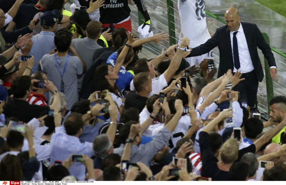 Zidane remercie ses supporters - SIPA
