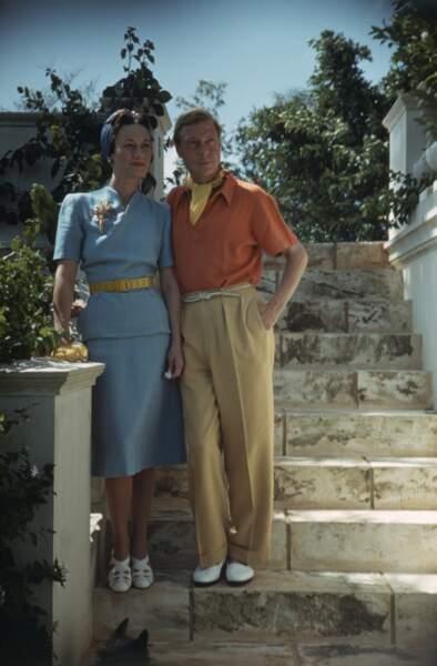Edouard VIII, Duc de Windsor et son épouse Wallis Simpson