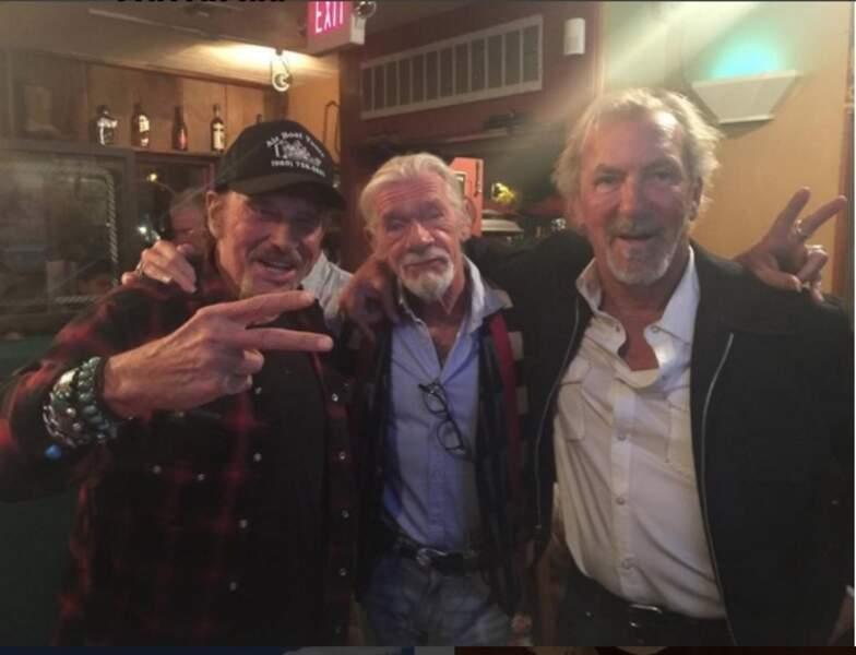 Johnny Hallyday et ses amis de route