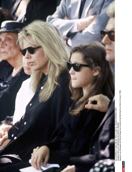 France Gall, sa fille lors des obsèques de Michel Berger en 1992