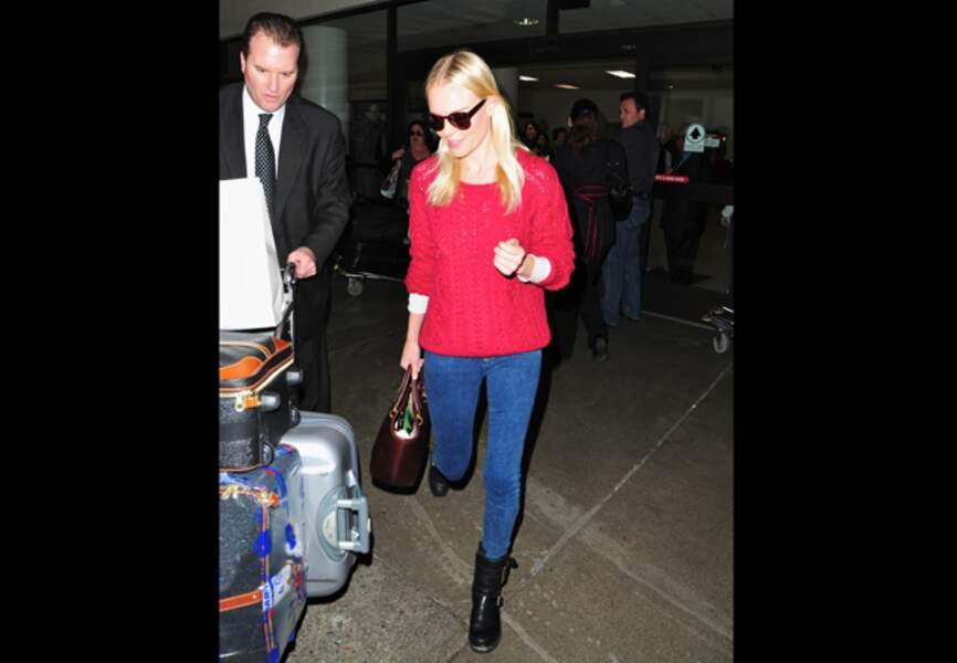 Kate Bosworth élégante tout en simplicité avec sa version rouge