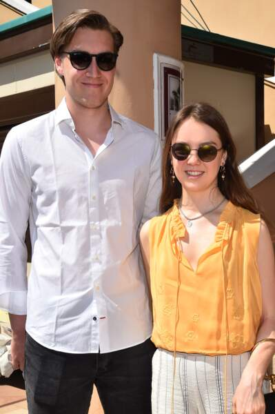 La princesse Alexandra de Hanovre et son compagnon Ben-Sylvester Strautmann le 20 avril 2018.