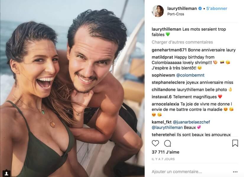 Laury Thilleman et son chéri Juan Arbelaez, l'amour fou en vacances en Grèce
