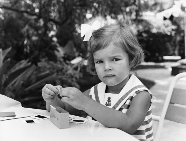 Portrait de la princesse Stéphanie de Monaco, en 1969
