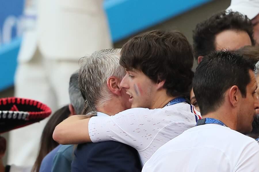 Didier Deschamps et son fils Dylan