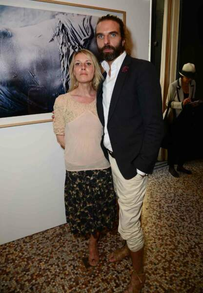 Le coiffeur John Nollet et l'actrice Florence Thomassin