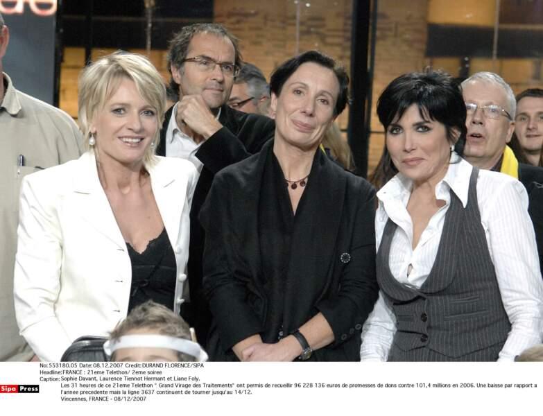 Sophie Davant, Laurence Tiennot Hermant et Liane Foly en 2007