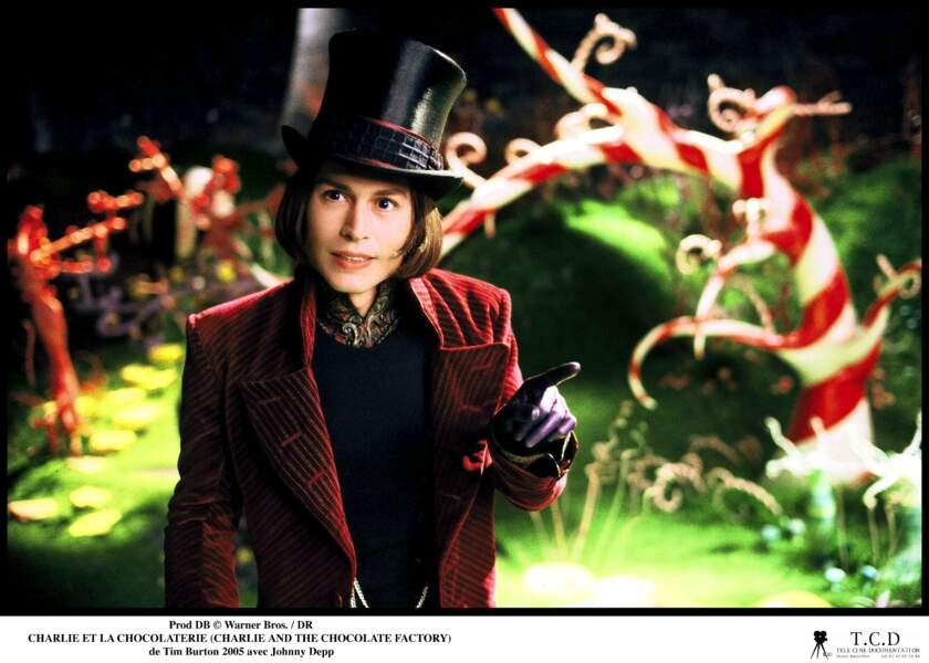 """Johnny Depp dans """"Charlie et la Chocolaterie"""" (2005)"""