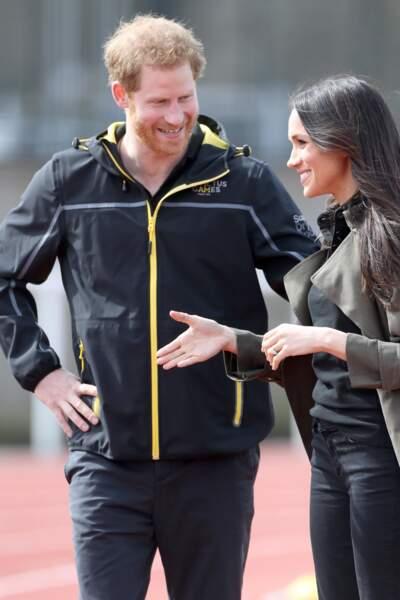 Meghan Markle et le prince Harry toujours souriants