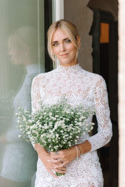 Chiara Ferragni sublime en Dior et maquillée avec les produits Lancôme
