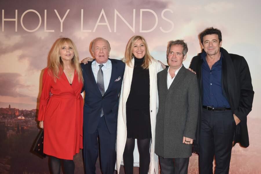Amanda Sthers aux côtés de ses acteurs lors de l'avant-première de Holy Lands ce 4 décembre