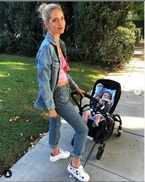 Chiara Ferragni toute jeune maman