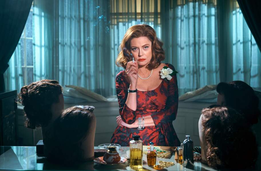 Susan Sarandon s'est glissé dans le rôle de la comédienne Bette Davis dans la mini série Feud