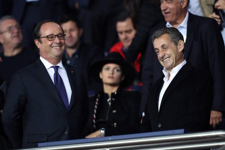 Evénement rare : François Hollande et Nicolas Sarkozy rient ensemble