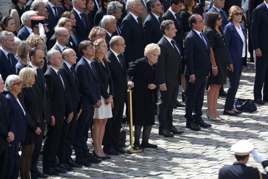 Bernadette Chirac affaiblie mais debout aux obsèques de Simone Veil