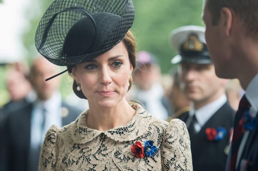 La duchesse de Cambridge avait l'air très émue