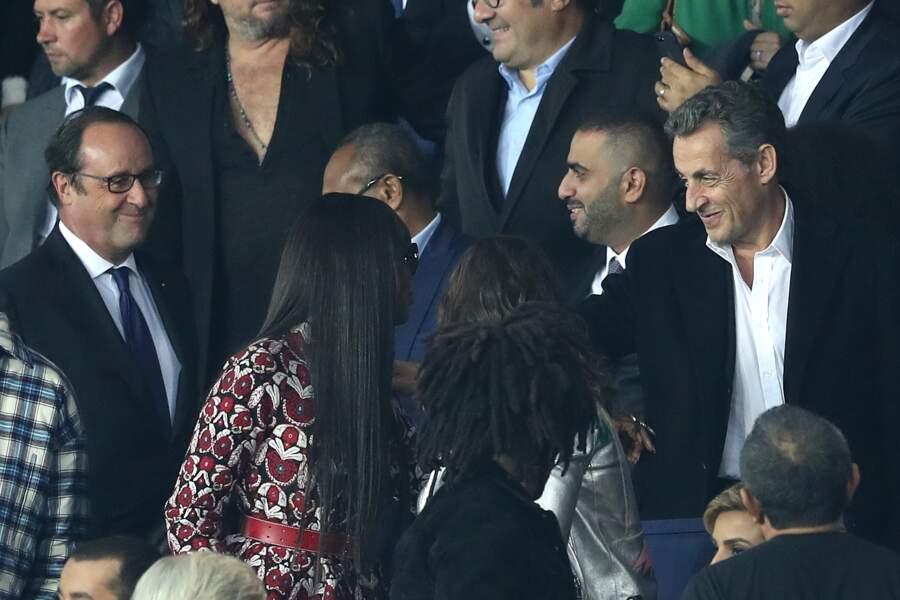 Naomi Campbell salue Nicolas Sarkozy, le mari de sa grande copine Carla Bruni