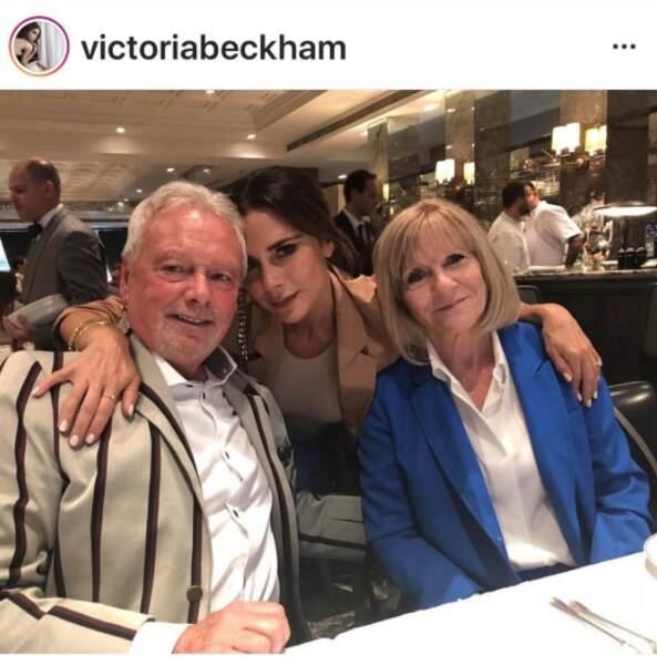 Victoria Beckham et ses parents