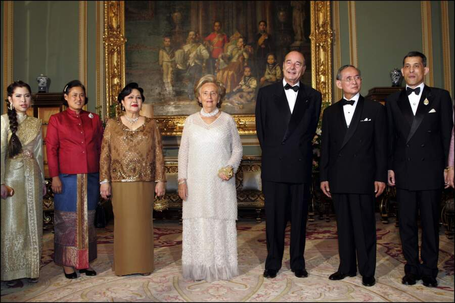 En compagnie du couple Chirac en 2006