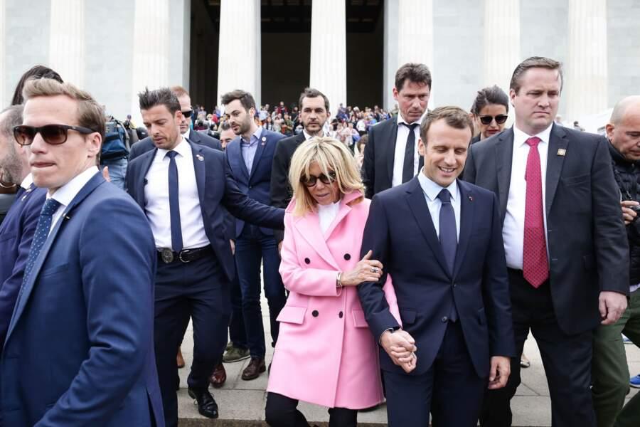 Tristan Bromet (chef de cabinet), Pierre-Olivier Costa (Directeur de cabinet) et Brigitte Macron