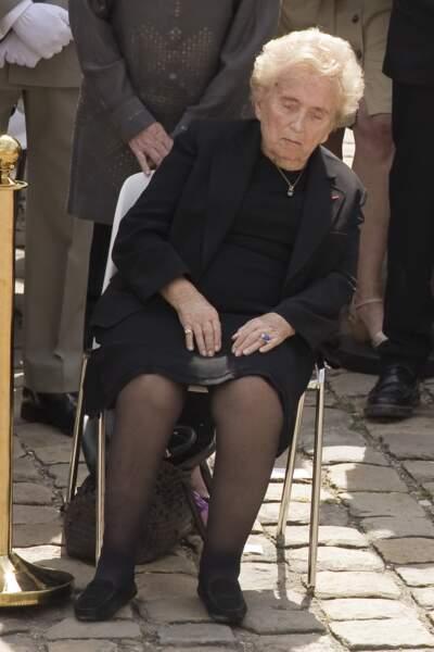 Bernadette Chirac, l'épouse de Jacques Chirac :Obsèques nationales de Simone Veil à l'hotel national des Invalides